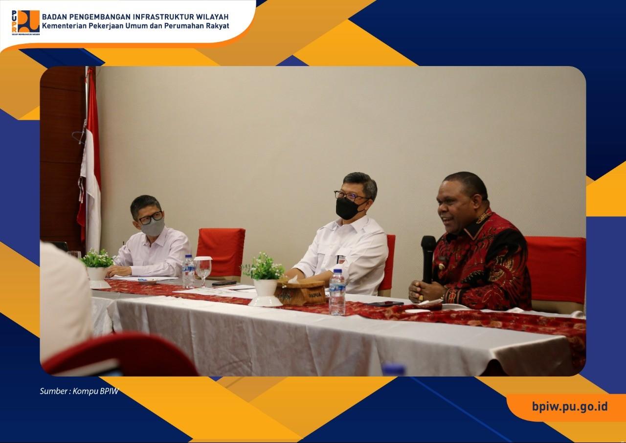 Kepala BPIW Lakukan Pertemuan dengan Bupati Manokwari terkait Penanganan Kemiskinan Ekstrem dan Stunting