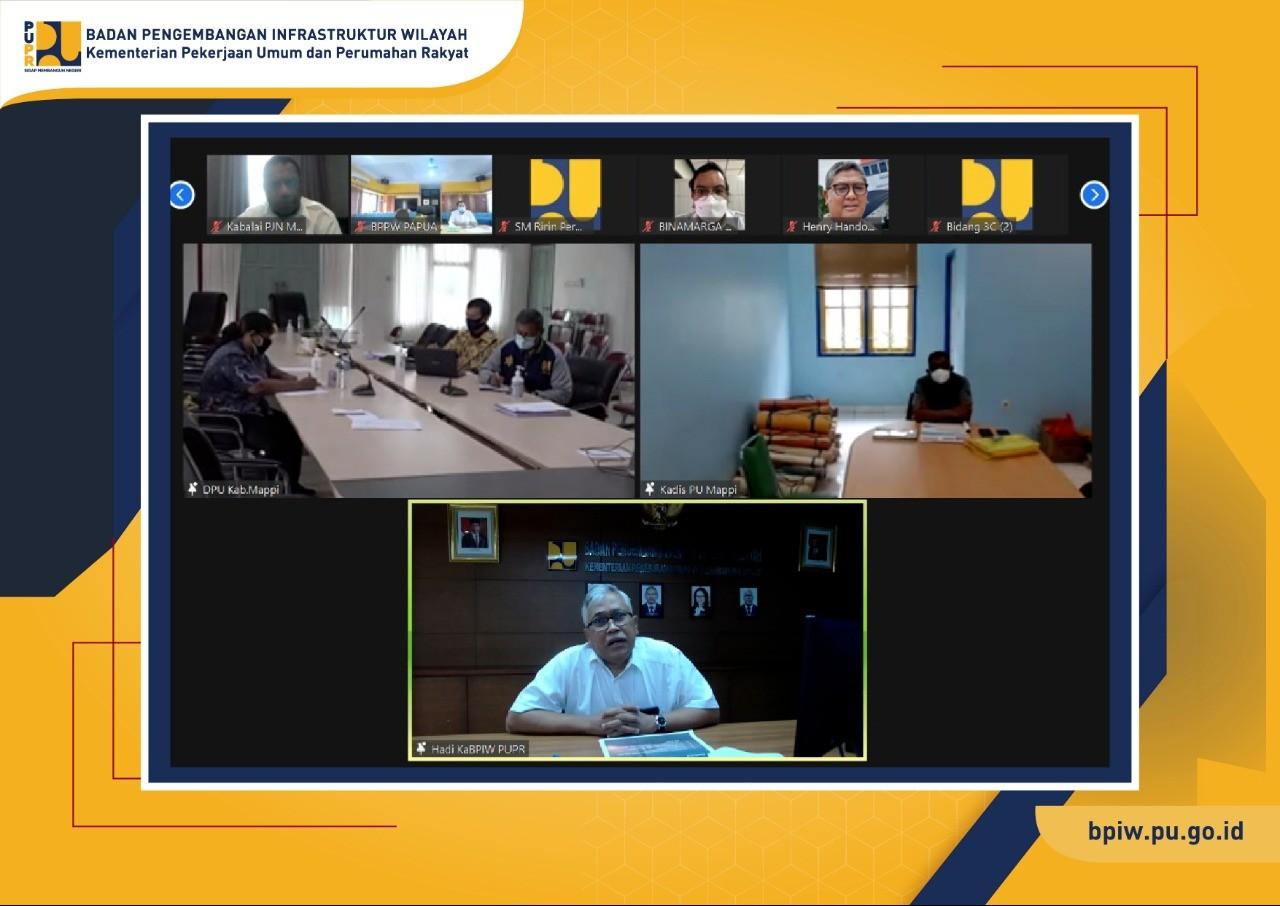 BPIW Bahas Penajaman Program Pembangunan Infrastruktur Kabupaten Mappi