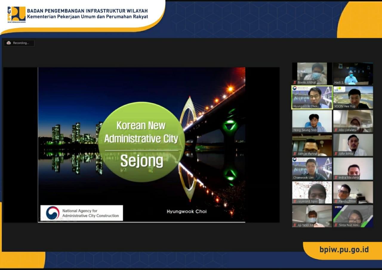 BPIW Gelar Sharing Knowledge Pengembangan Kota Sejong Korea Selatan