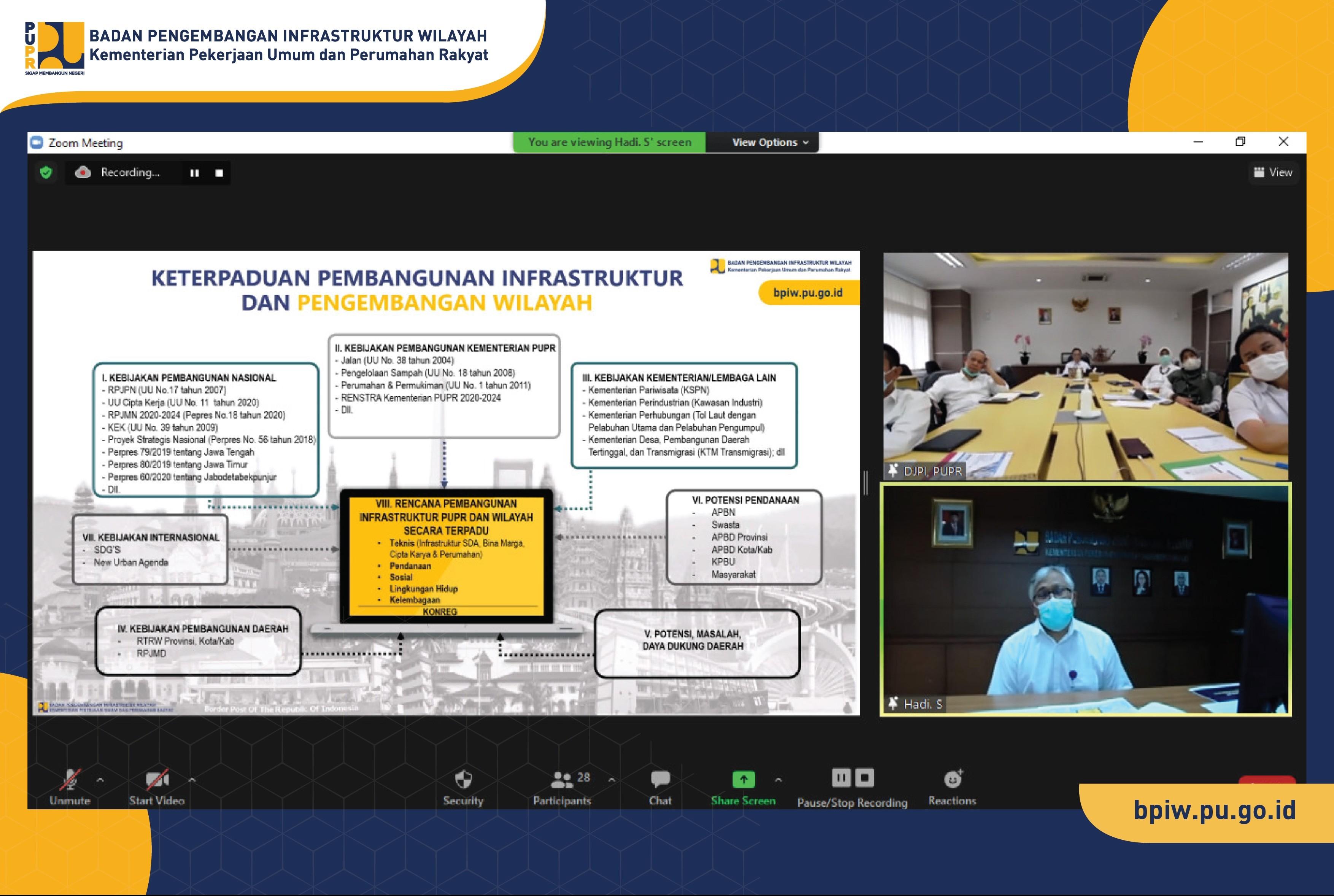BPIW-DJPI Sepakat Tingkatkan Koordinasi dan Sinkronisasi