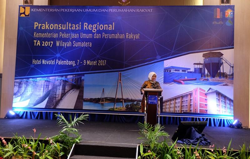 Buka Pra Konreg di Palembang, Sekjen Kementerian PUPR Tekankan Pentingnya Keterpaduan Pembangunan Infrastruktur