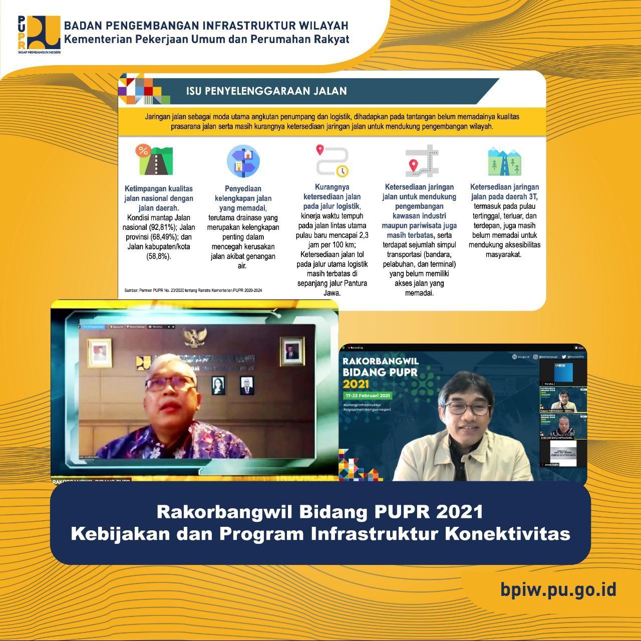 Program Infrastruktur terkait Konektivitas Ditajamkan di Rakorbangwil Bidang PUPR