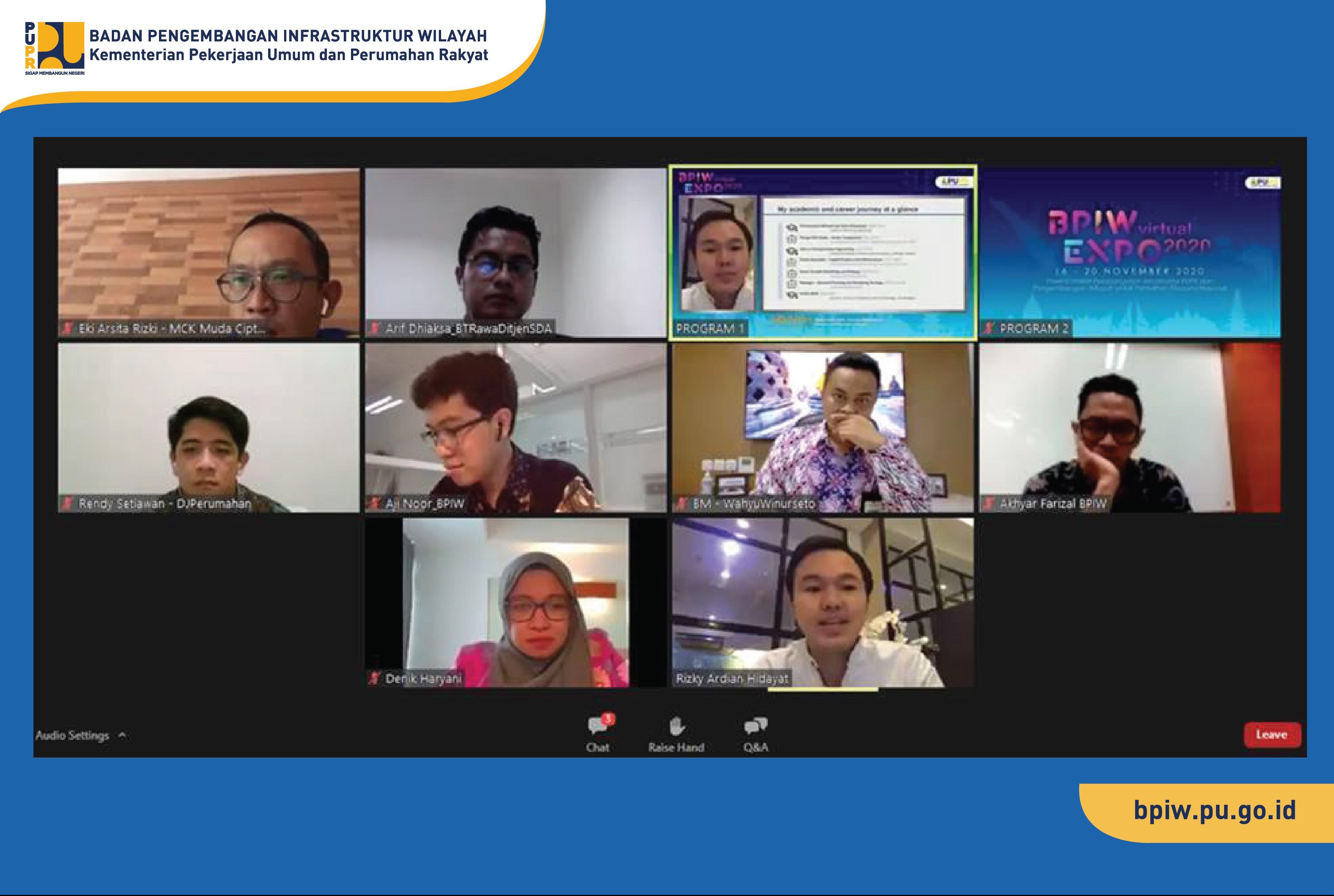 Talk Series ke-3 BPIW Virtual Expo Tampilkan Peran Nyata Generasi Muda
