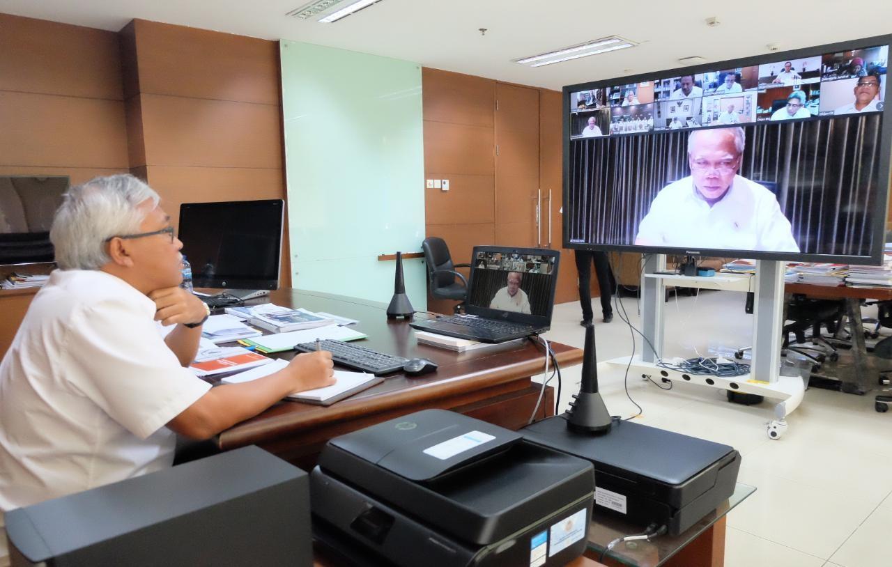 Kepala BPIW Ikuti Vidio Conference Rapim Kementerian PUPR