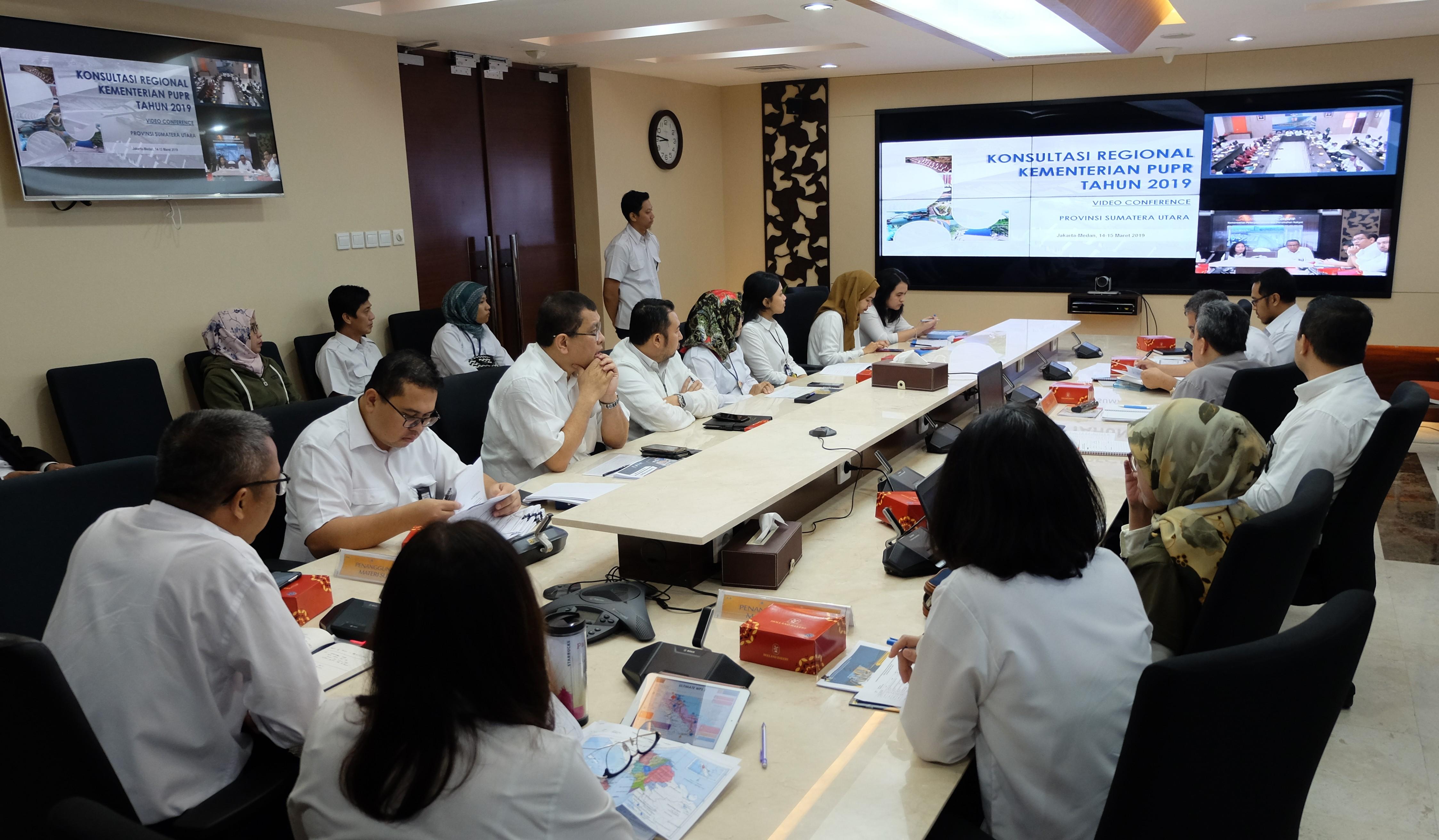 Kementerian PUPR Gelar Konreg Jarak Jauh Ketiga dengan Sumut