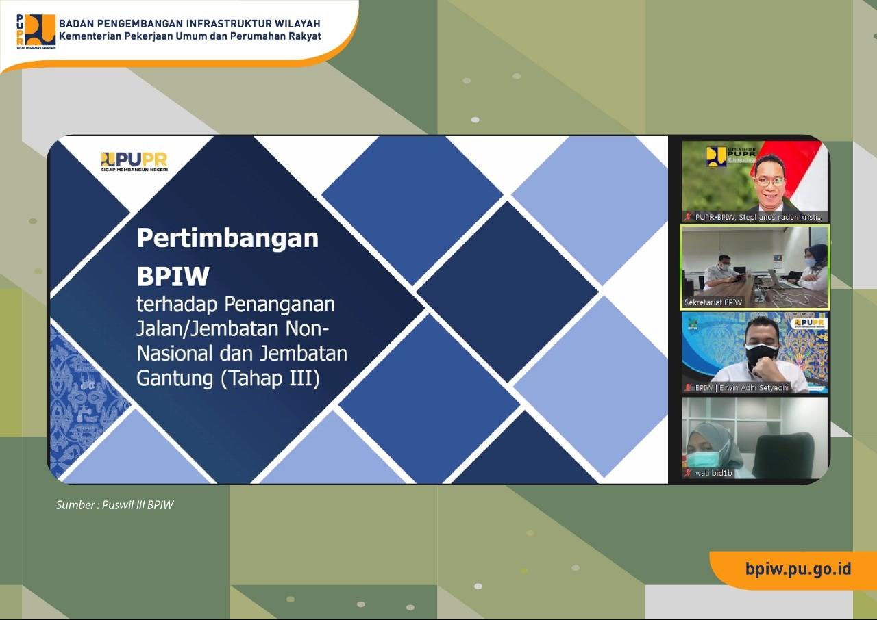 Pertimbangan BPIW Terkait Program Usulan Ditjen Bina Marga, Dipertajam
