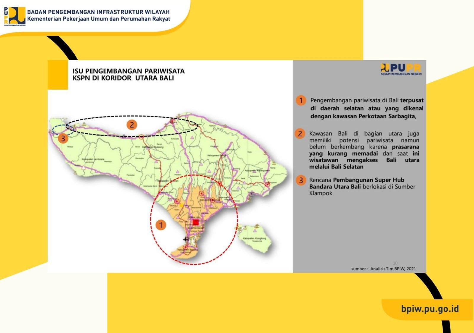 BPIW Dukung Pengembangan Metropolitan Sarbagita dan KSPN di Utara Bali